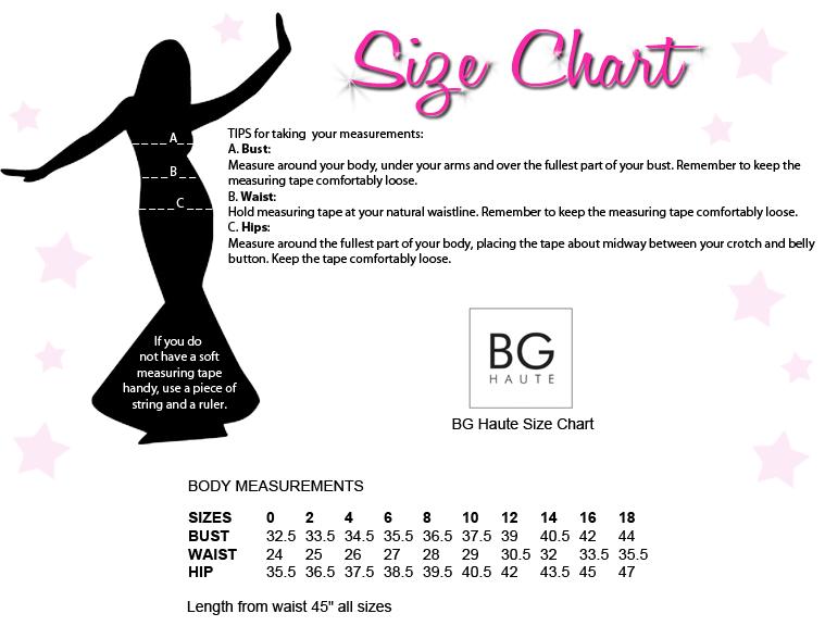 BG Haute Size Chart