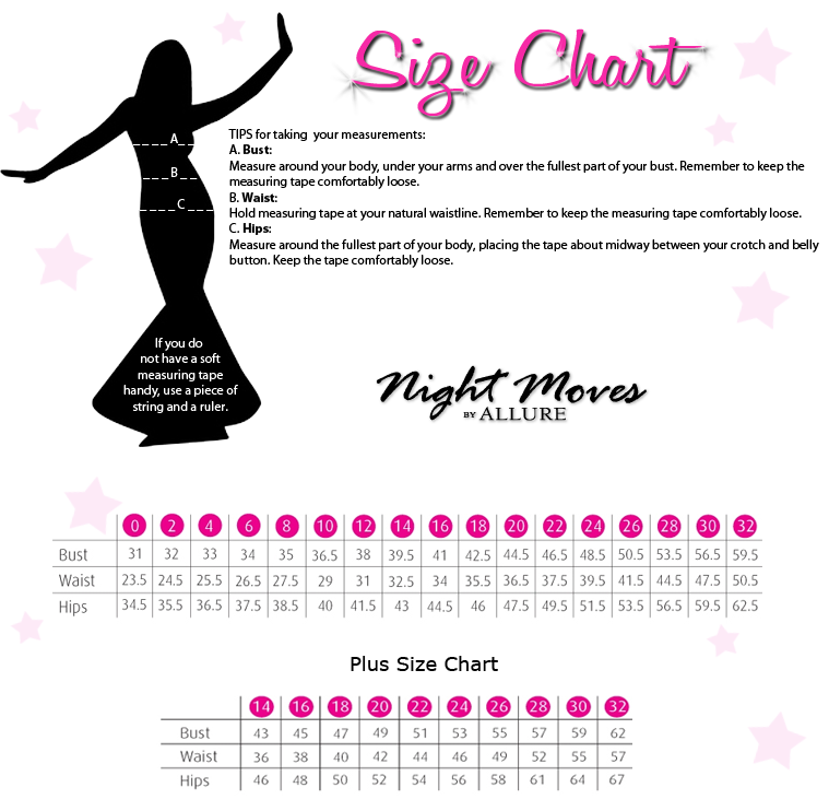 Night Moves by Allure Size Chart