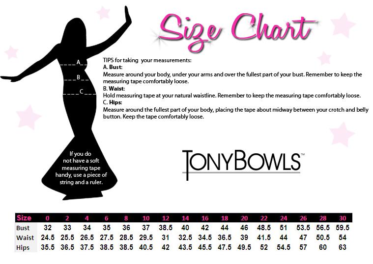 Tony Bowls Size Chart