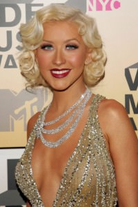 Retro Inspired Christina Aguilera hairstyle