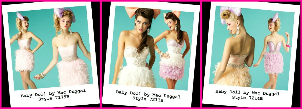 Feathered Cocktail Dresses, Mac Duggal, Rissy Roo's