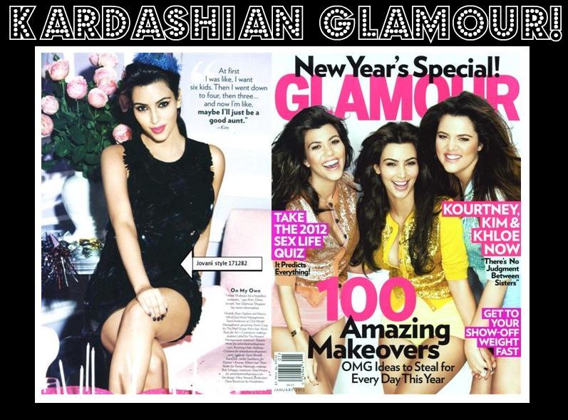 Kim K., Kim Kardashian, Kourtney Kardashian, Khloe Kardashian-Odom, Glamour Magazine, New Years Special