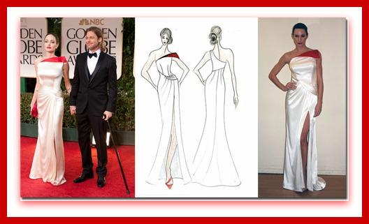 Angelina Jolie, Golden Globes 2012, Faviana, Today Show