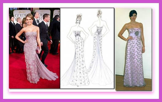 Jessica Alba, Golden Globes 2012, Faviana, Today Show