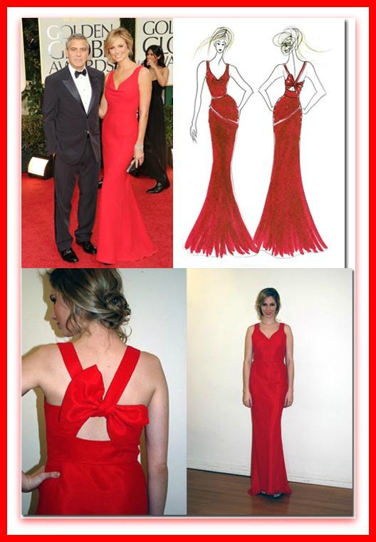 Stacy Keibler Golden Globes 2012, Faviana