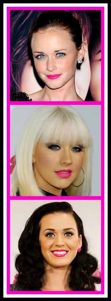 Hot Pink Lips, Christina Aguilera, Alexis Bledel, Katy Perry, Make Up 2012, Prom 2012,