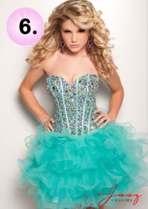Jasz Couture 4702 ruffled skirt dress