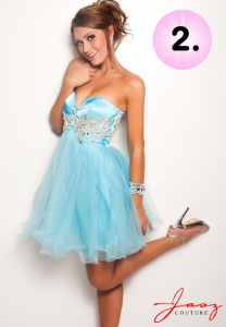 Jasz Couture 4718 short strapless dress