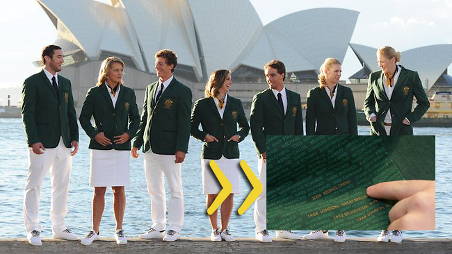 Australia Olympic Uniforms 2012