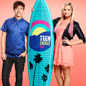 Teen Choice Awards 2012 Kevin McHale and Demi Lovato