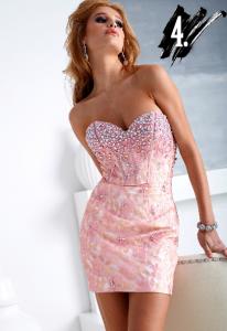 terani h1255 short pink dress