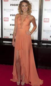 Miley Cyrus Hi-Lo Dress