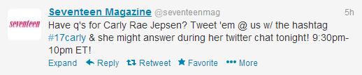 Seventeen Magazine Tweet