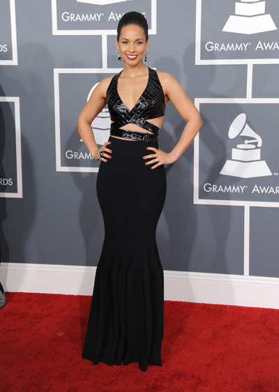 Alicia Keys at the 2013 Grammy's