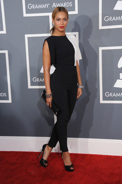 Beyonce at the 2013 Grammy's