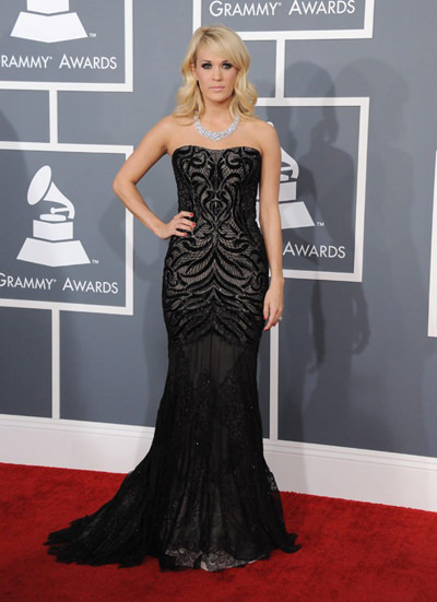 Carrie Underwood at the 2013 Grammy's