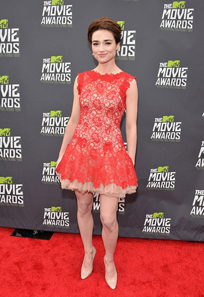 Crystal Reed at the MTV Movie Awards