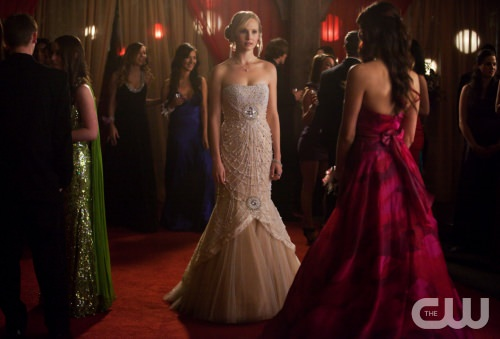 "Caroline in The Vampire Diaries ""Pictures of You"" prom episode"