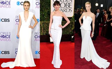 Celebrities wearing white at 2013 Awards ceremonies