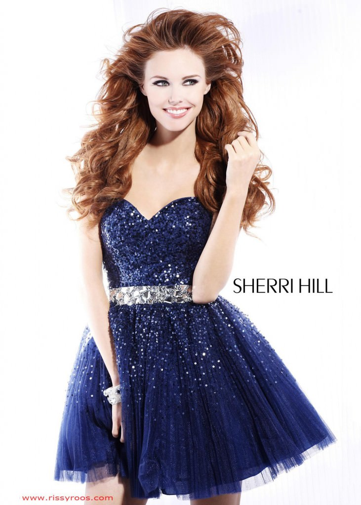 Sherri Hill 2787 navy