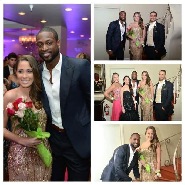 Dwayne Wade at Nicole Muxo's prom