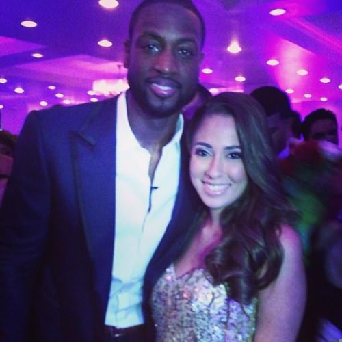 Dwayne Wade and Nicole Muxo at her senior prom