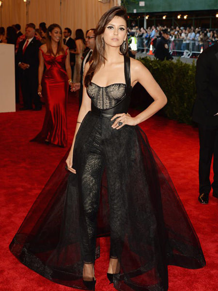 Nina Dobrev at the Met Gala 2013