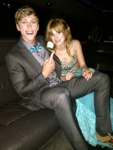 Bella and Tristian in the limo