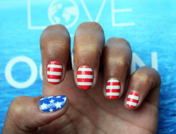 4th of july nail decals