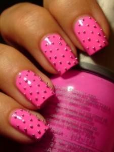 pink bold nails