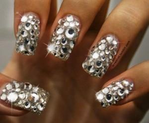 Rhinestone nail art
