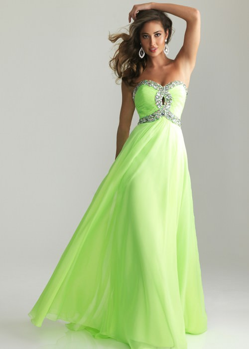 Night Moves style 6642 lime green