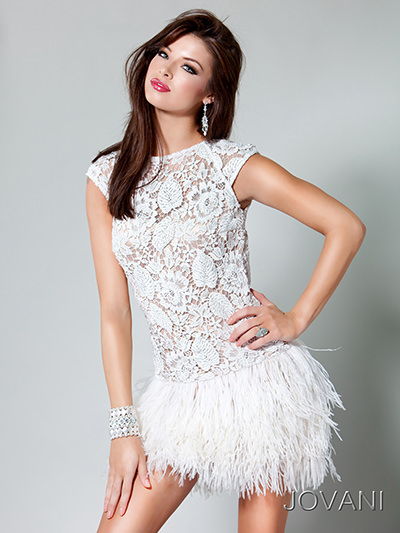 Jovani 171924 short lace dress