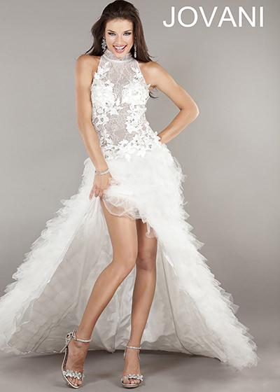 Jovani 4863 white lace dress