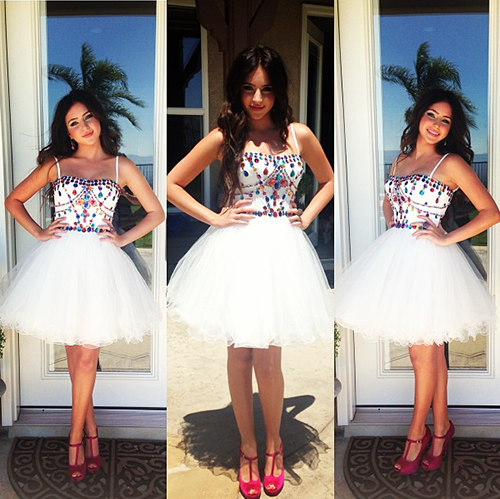 Ryan Newman in Sherri Hill 21001 at the 2013 Teen Choice Awards