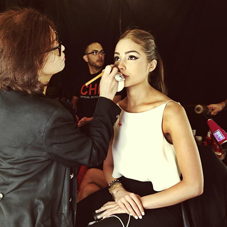 Olivia Culpo Sherri Hill New York Fashion Week show