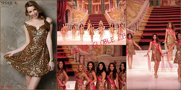 Miss Latina Global 2013 Delegates wearing Shail K. KL3224