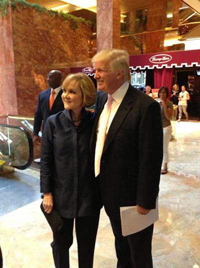 Sherri Hill Donald Trump NYFW 2013