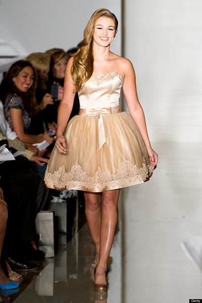 Sadie Robertson on the Sherri Hill NYFW runway