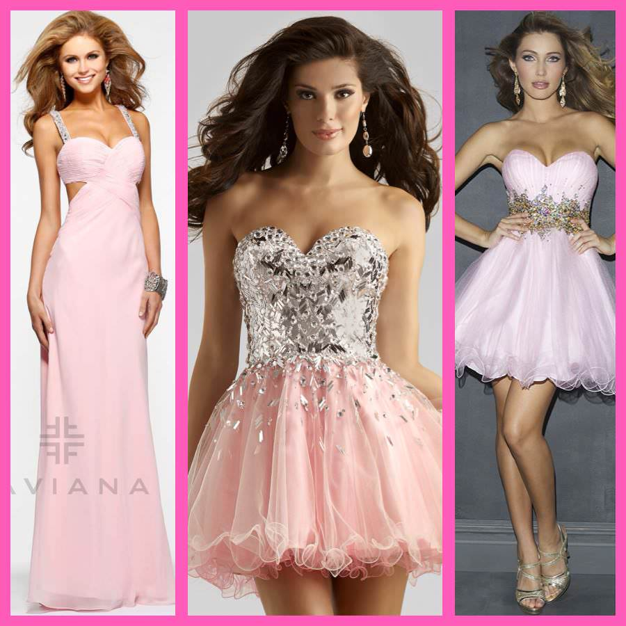 pink dresses for Breast Cancer Awareness Month