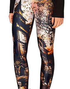 Haunted House Halloween tights