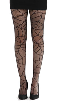Spider web Halloween tights