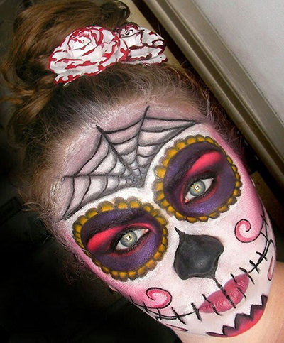 dia de los muertos skull makeup for halloween
