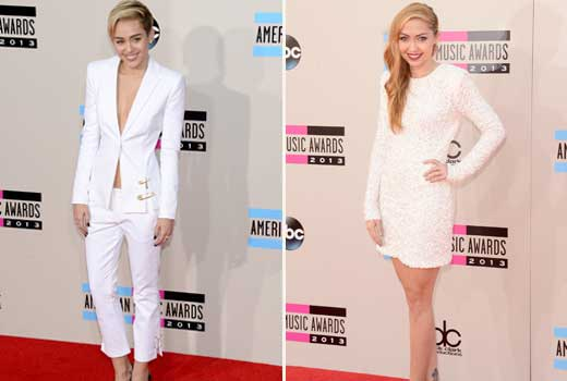 brandi-cyrus-miley-cyrus-amas-red-carpet-2013