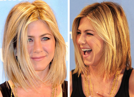 long bob hairstyle - the lob - Jennifer aniston