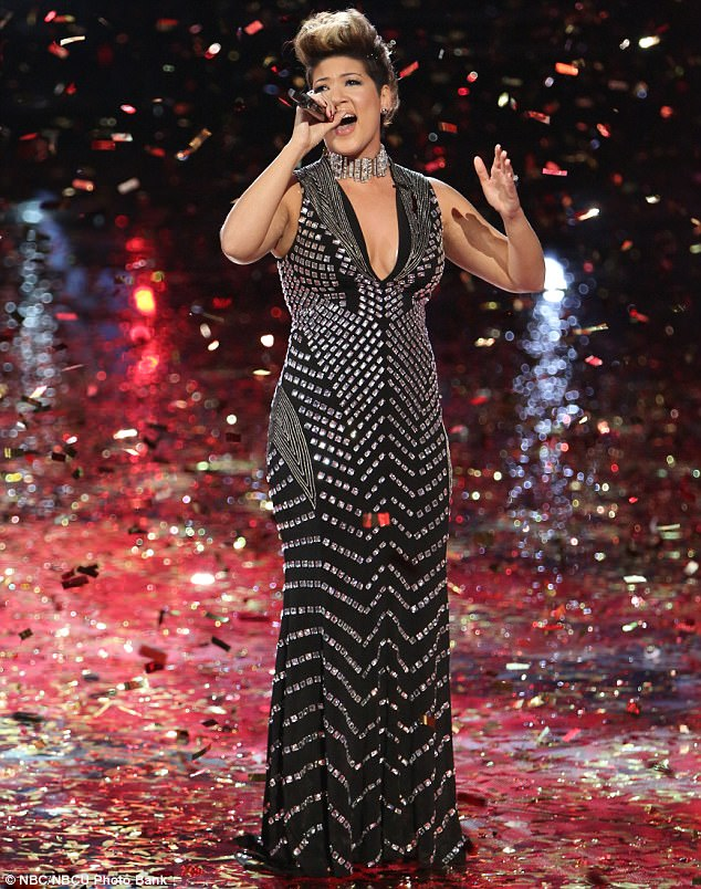 Tessanne Chin in Jovani 6433 on The Voice