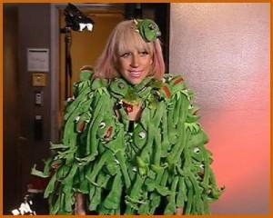 kermit the frog dress lady gaga