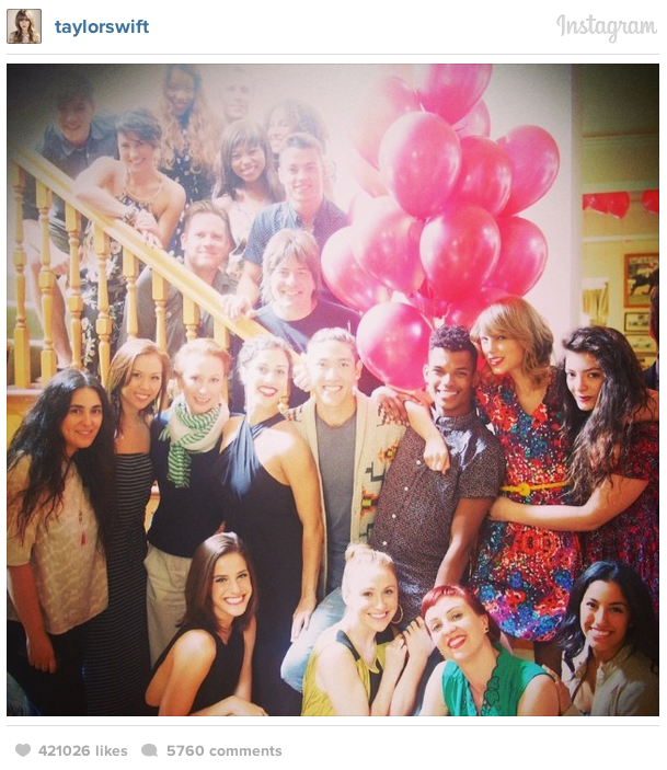 taylor swift's birthday party