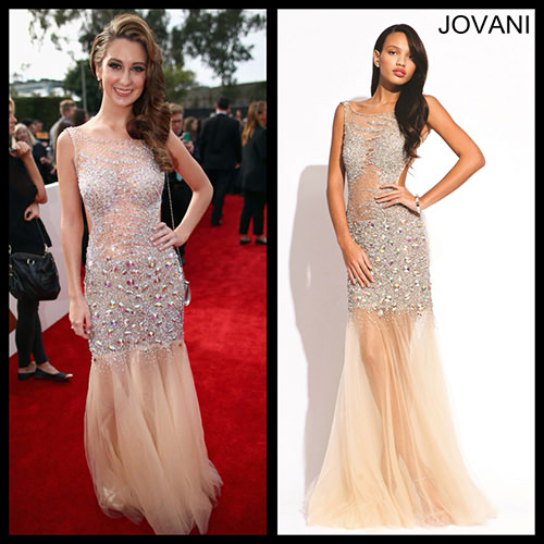 Brooklyn Haley grammys dress Jovani 2913