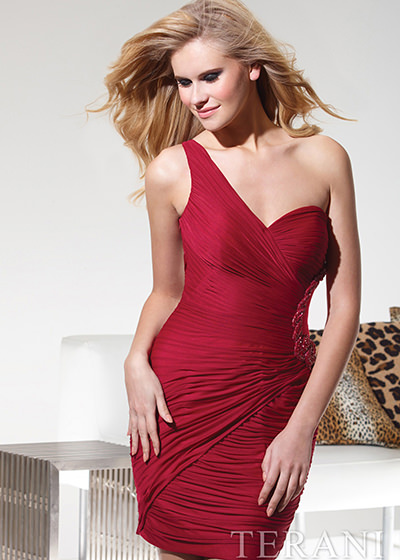 Terani h1938-2000 red dress